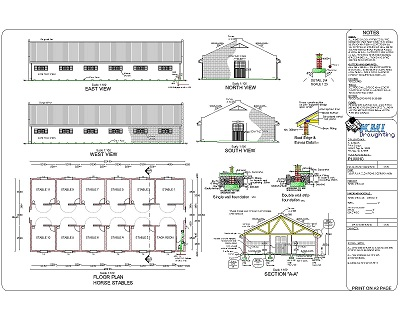 Horse stable plans images galleries for Horse stable blueprints
