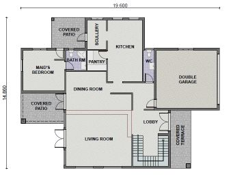 Plan pl0011t 5 bedroom 3 bathroom tuscan dwelling for 3 bedroom house floor plans with models pdf