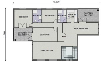 Plan Pl0011t 5 Bedroom 3 Bathroom Tuscan Dwelling