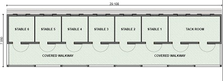 Horse Stable Plans 6 horse stable plan